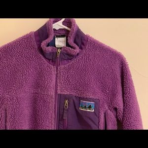 Girls Patagonia fleece sweater